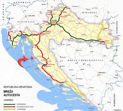 Autokarta hrvatske